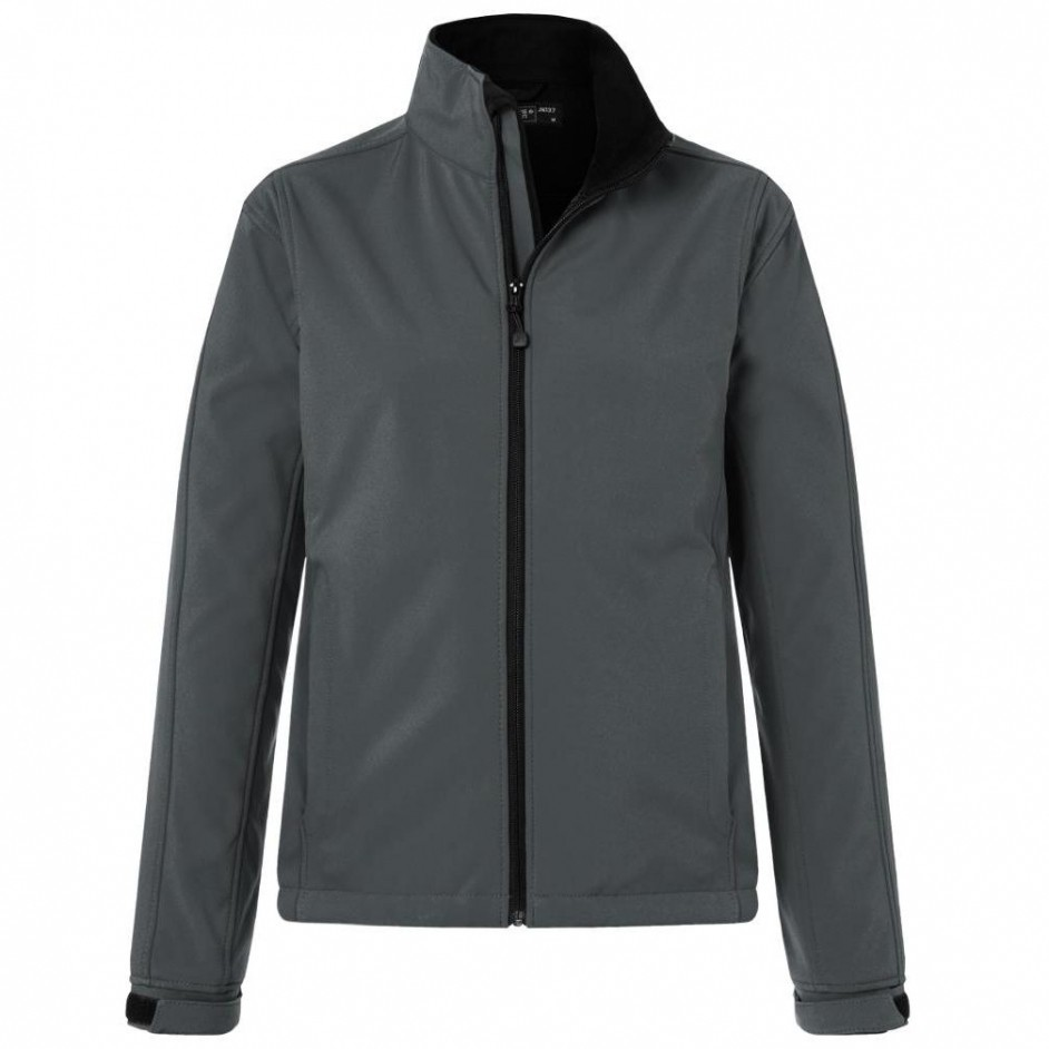 Dames softshell jack carbon