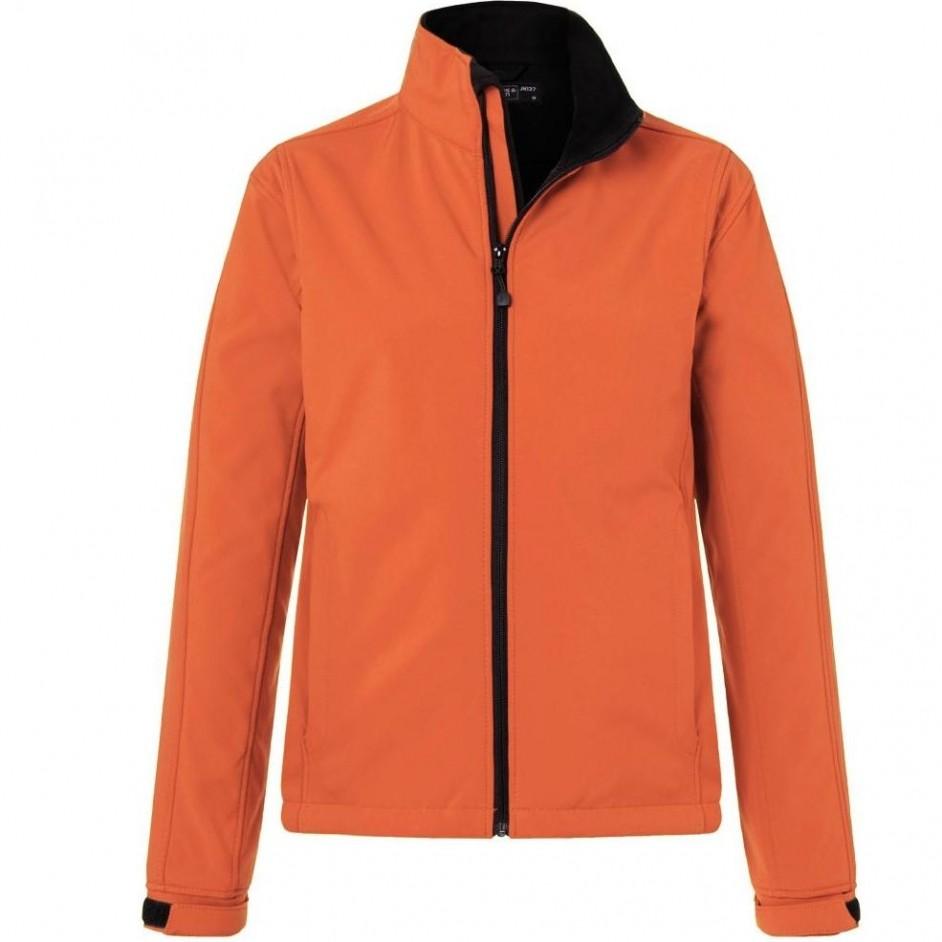 Dames softshell jack oranje