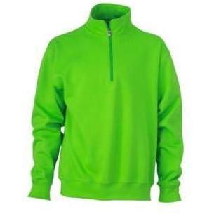Zip Sweat Workwear lime
