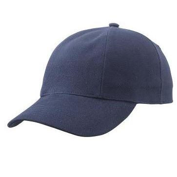 MB609 cap met gedraaide panelen donkerblauw