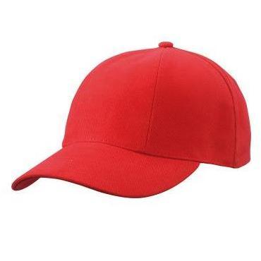 MB609 cap met gedraaide panelen rood