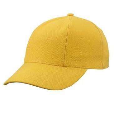 MB609 cap met gedraaide panelen goudgeel