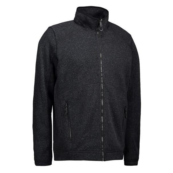 ID Heren zip'n'mix melange fleece 0847