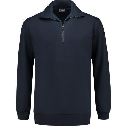 Workman 7702 navy zipper sweater