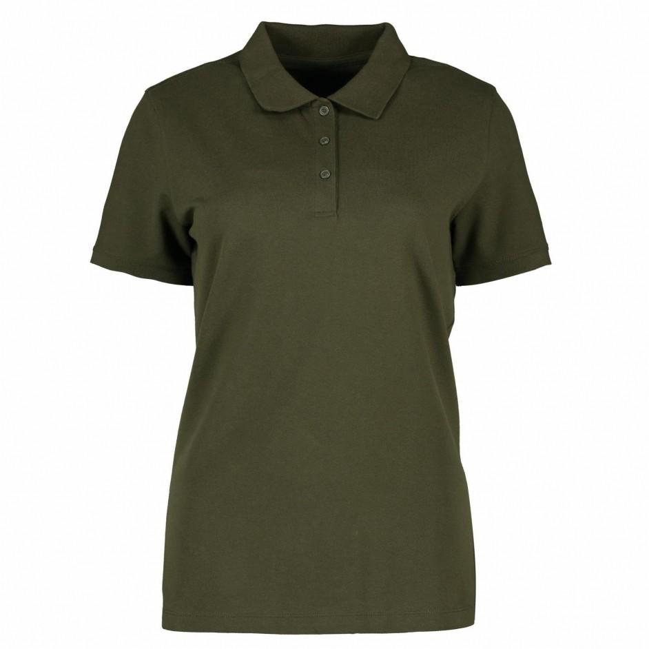 ID 0587 Poloshirt olijf