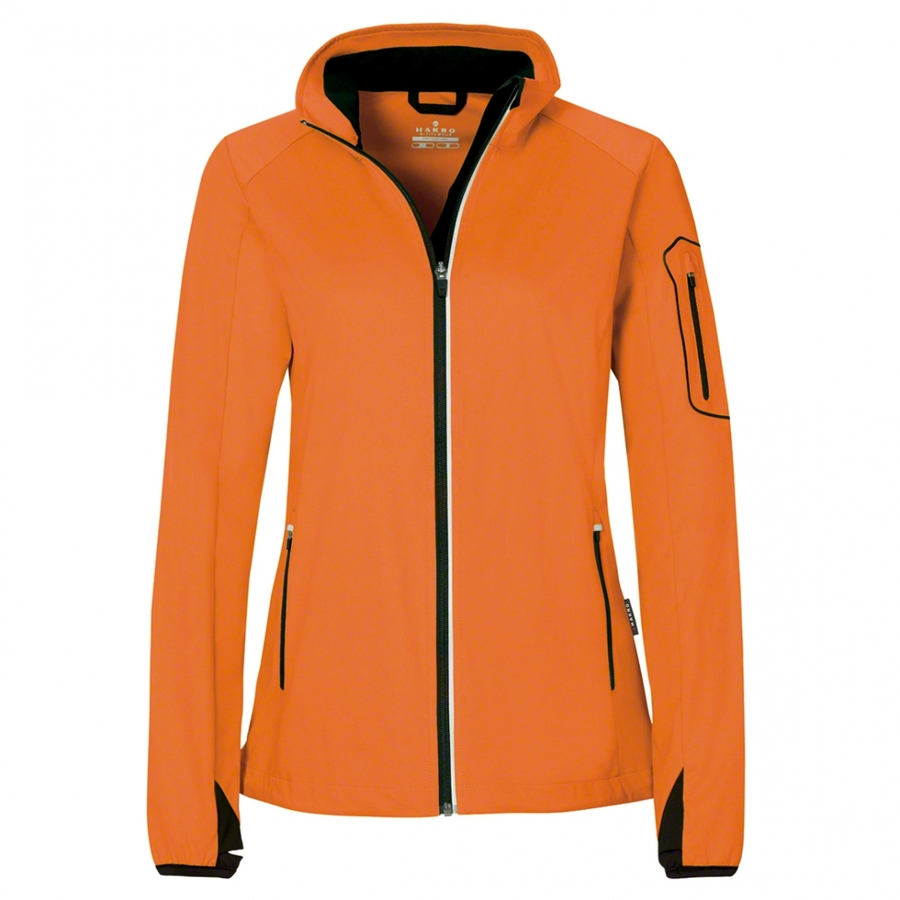 Dames Light Softshell Jack Oranje