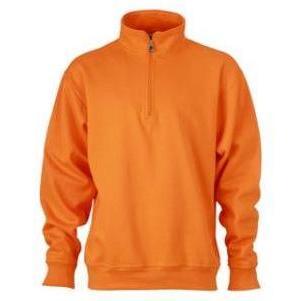 Zip Sweat Workwear oranje