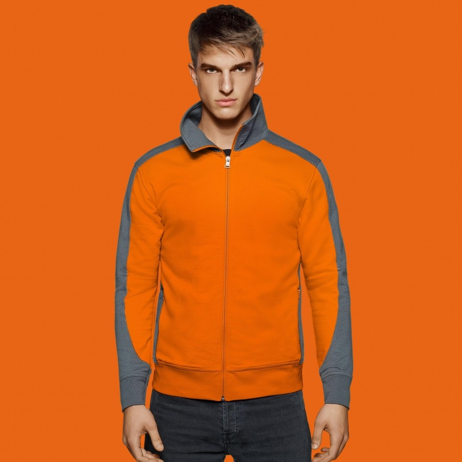 477 Sweatjacke contrast performance Hakro
