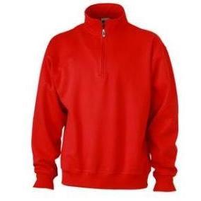 Zip Sweat Workwear rood