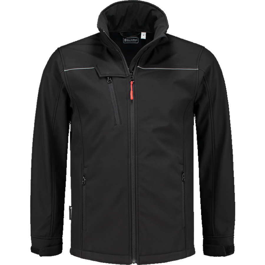 Softshell jack zwart Workman