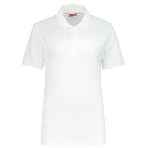 Uni polo shirt Ladies Workman wit