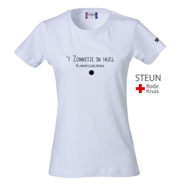 Webshirtcompany #ZONNETJE Dames wit