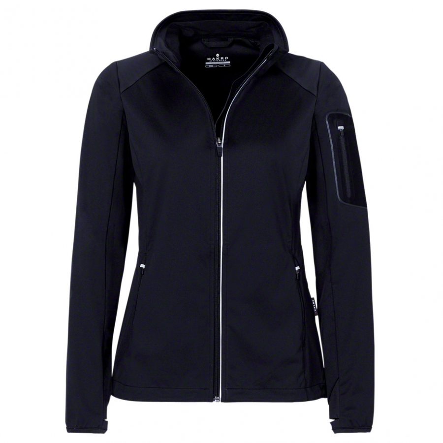 Dames Light Softshell Jack Zwart