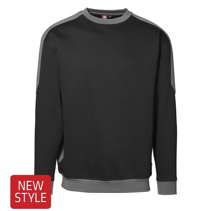 Sweatshirt met lange mouw en ronde hals. 2-kleurig.