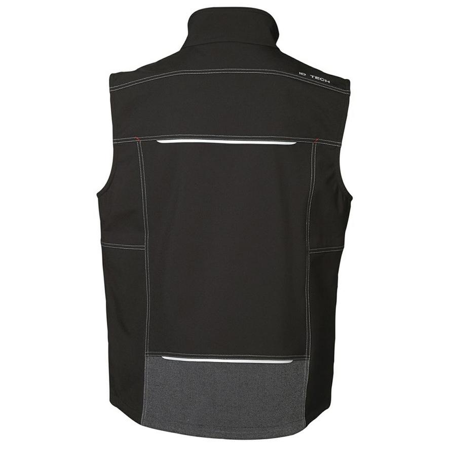 Worker Softshell vest, contrast inzetstukken-ritssluitingen
