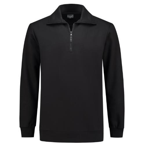 7706 WM zipper sweater zwart