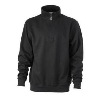 Zip Sweat Workwear zwart
