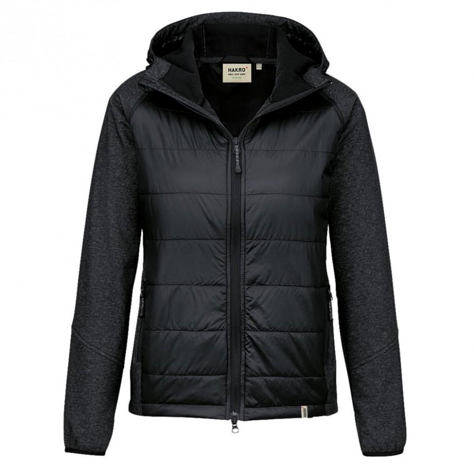 265 Hakro Dames Maryland Hybrid Jacket zwart